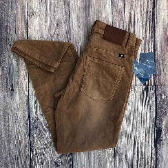eaeaf2cee4 Lucky Brand Boys Cooper Slim Khaki Corduroy Pants NWT